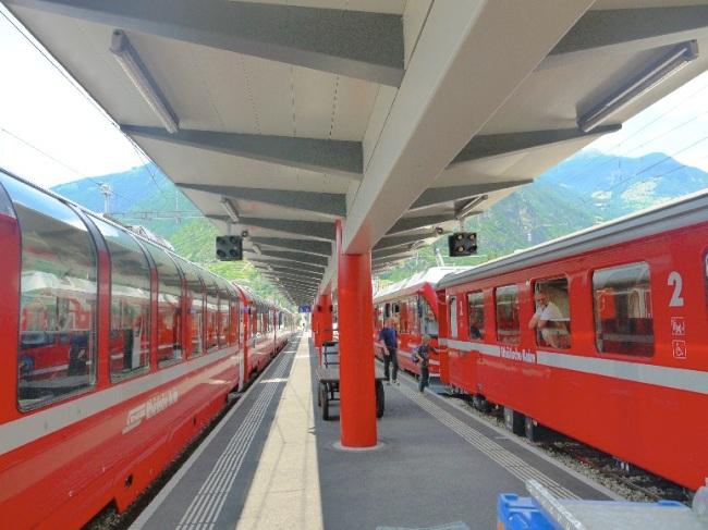 世界遺産ベルニナ鉄道